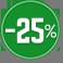 DISCOUNT 25 %  25 green